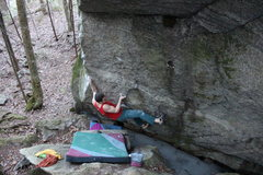 Rock Climbing Photo: Figuring out the beta on The Alchemist