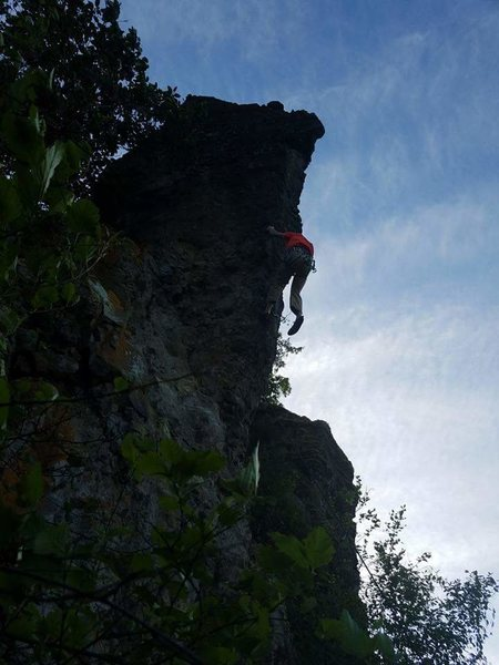 Rock Climbing Photo: Awesome red point on tomahawk tower. Lots of fun m...