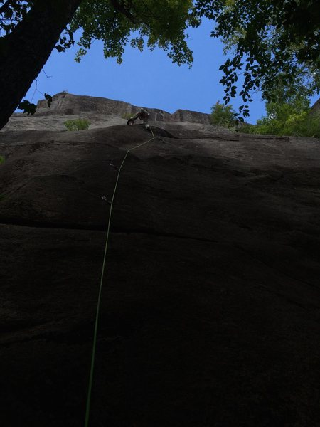 Rock Climbing Photo: red, black & blue just past first hard section on ...
