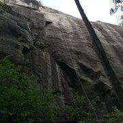 Rock Climbing Photo: CT Yankee P1, climbs left of fixed line