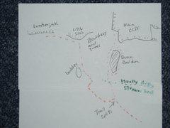 Rock Climbing Photo: Map of Area near the cliffs
