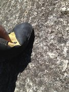 Rock Climbing Photo: Get moah rubber on there an drop that heel !!!