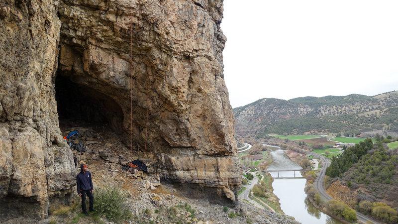 Rock Climbing Photo: Sex Cave at the Surgery Buttress.