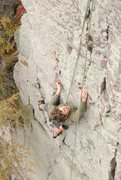 Rock Climbing Photo: Climbing the beautifully flowing moves in the uppe...