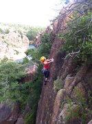 Rock Climbing Photo: Elisha nearing the top.
