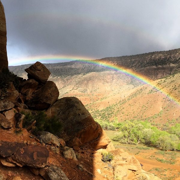 Rainbows in the canyon.