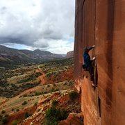 Rock Climbing Photo: Kyle on lead.
