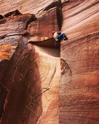 Rock Climbing Photo: Pulling the Woof.