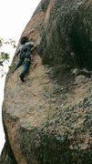 Rock Climbing Photo: Enrico getting into the goods!