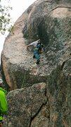 Rock Climbing Photo: Enrico climbing