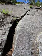 Rock Climbing Photo: Zig Zag Crack on Pitch 1 of The Big Tree. You coul...