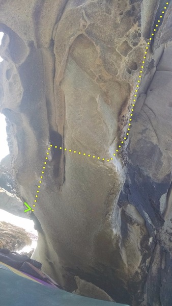 Rock Climbing Photo: Follow the line and exit right.