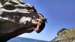 Rock Climbing Photo: Jordan McDaniel finishing it up.