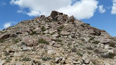 Rock Climbing Photo: The view up hill.