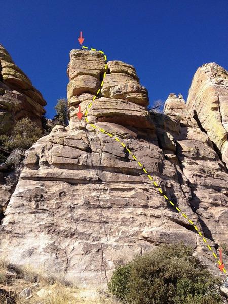 Rock Climbing Photo: R-3 Topo