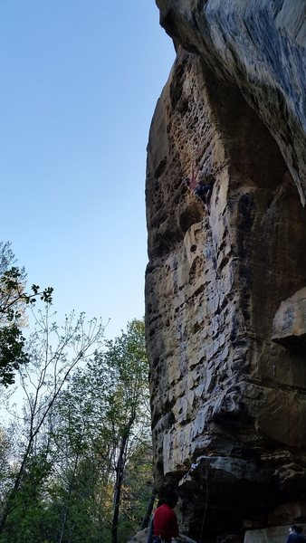 Parker pushing threw the crux!