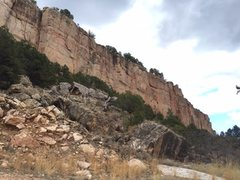 Rock Climbing Photo: Far left side of Cactus Cliff.