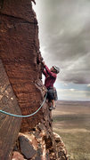 Rock Climbing Photo: The start to the wonderful (if just a touch crispy...