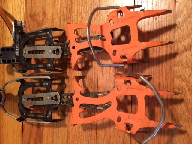 Petzl Dartwin crampons in great shape.  see next photo for closer shot of points