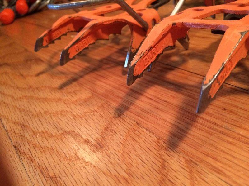 pic of front points of Petzl Dartwin crampons