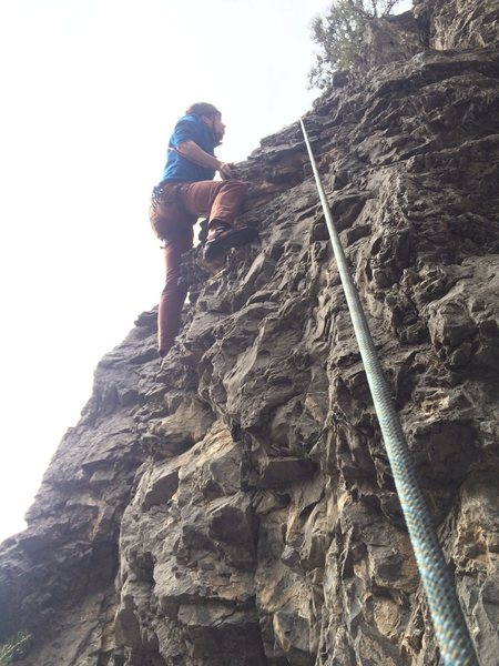 Rock Climbing Photo: getting to the easy part. i climbed sideways from ...