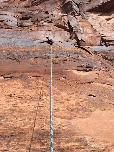 near the top of left slab (5.7)