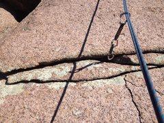 Rock Climbing Photo: The crack for pro on Irish Red.