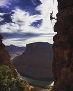 Rock Climbing Photo: Coming off the top when my buddy snapped this glor...