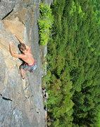 Rock Climbing Photo: Michal high on P4