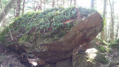 Rock Climbing Photo: The boulder just above and behind the grilled chee...
