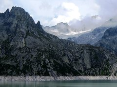 Rock Climbing Photo: Torre del Piz dal Päl from across the reservior
