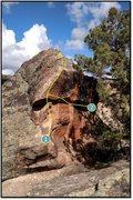 Rock Climbing Photo: 1. Wind Rose problem beta.