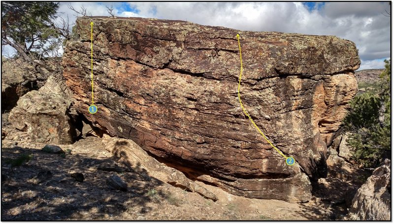Rock Climbing Photo: 1. Some Girls problem beta.