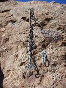 Rock Climbing Photo: Anchor for 5.12 Crack.