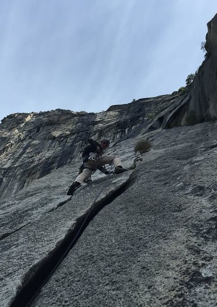 Rock Climbing Photo: Dylan leads P3