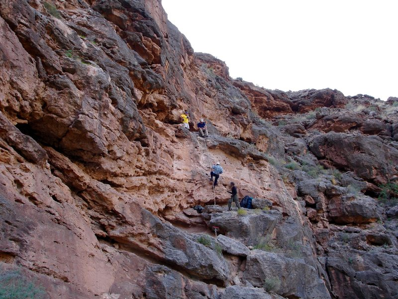 Rock Climbing Photo: A rappel on the Royal Arch route. G.C.N.P.