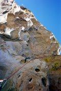 Rock Climbing Photo: Great huecos, overhanging cliff....