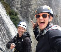 Rock Climbing Photo: Topping out. Stoke is high!