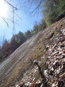 Rock Climbing Photo: At this point in most of the climbs on the little ...