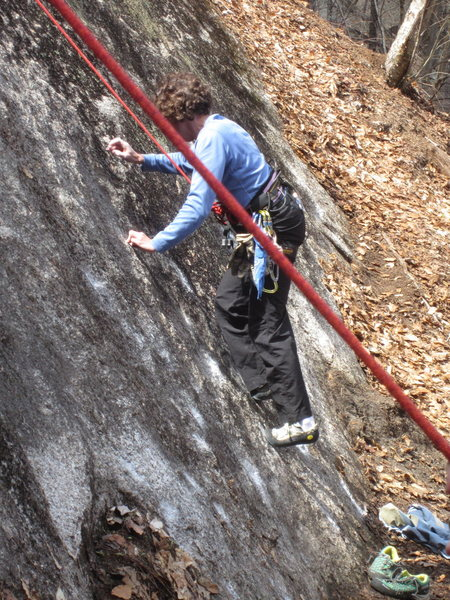 Rock Climbing Photo: Sheila M on Brilliant. Quite muddy at the bottom, ...