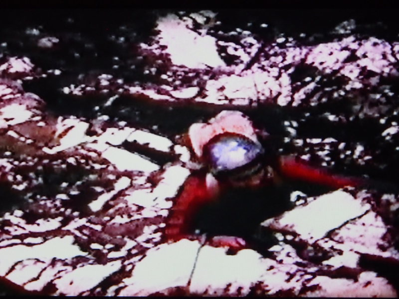 Gerry Malone tops out on the Henderson, Nov 1967 (from Super-8 film)