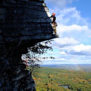 Rock Climbing Photo: leading 3 pines