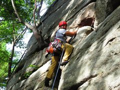 Rock Climbing Photo: first ever lead in the Gunks on Betty