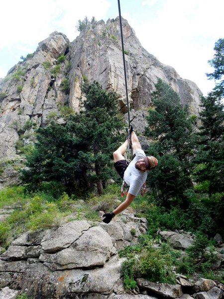 Rock Climbing Photo: tyrolean