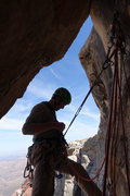 Rock Climbing Photo: Guy Racking up for the last pitch
