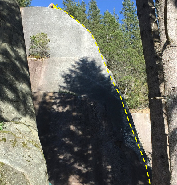 Rock Climbing Photo: Slab climb on an arete!