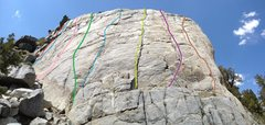Rock Climbing Photo: Routes by color