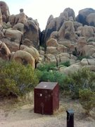 Rock Climbing Photo: The Black Corridor as seen from Picnic site #3, Ho...