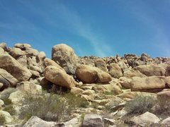 Rock Climbing Photo: Whole Lotta Trouble (5.9) as seen from the trail, ...