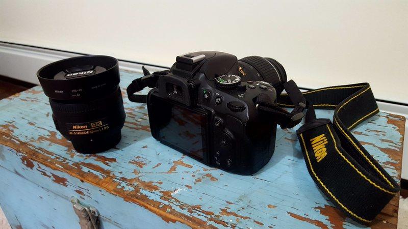 Camera + 35mm lense